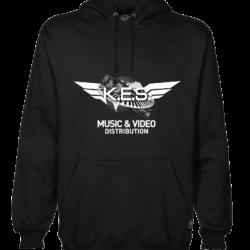 KES Network Logo On Black hoodie B&W