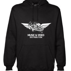 KES Network Logo On Black hoodie B&W