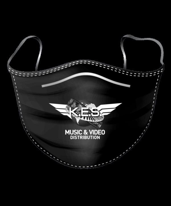 KES Network Logo on Face mask B&W