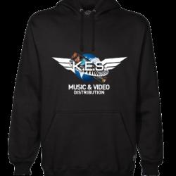 KES Network Colored Logo On Black Hoodie