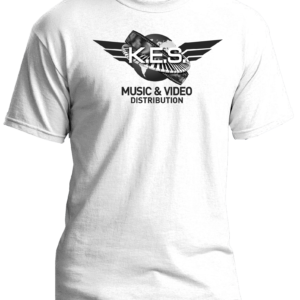 KES Network B&W Logo on White Tee