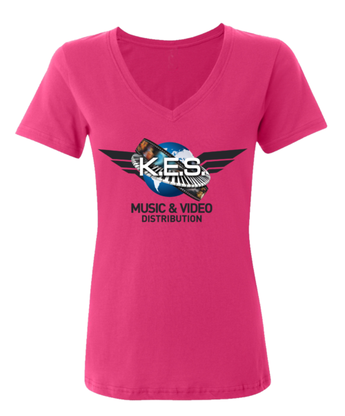 KES Network Colored Logo Pink Tee